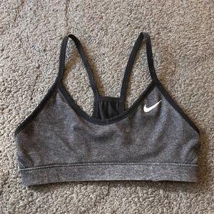 Gray/ Black Reversible Nike Sports Bra